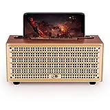 JOY Vintage Retro Wooden Bluetooth Speaker by JOY, Built-in FM Radio, USB Drive & TF Card Slot, Aux...