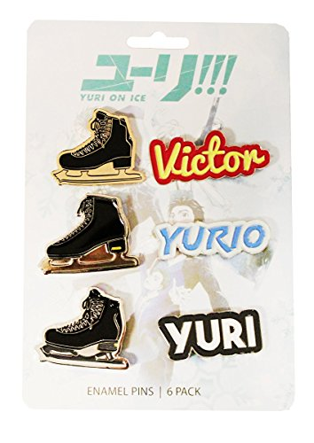 Yuri On Ice Collectible Enamel Set  6 Pack Collector's Edition