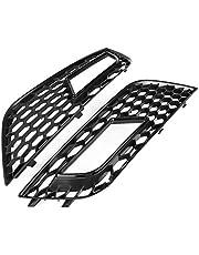 YOPOTIKA 2 Piezas para Rejillas de Luz Antiniebla de Parachoques Delantero Negro Brillante Estilo Rs4 para Audi A4 B8. 5 2013-2016 Negro