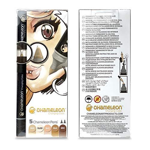 Chameleon Art Products - 5 rotuladores de alcohol permanente