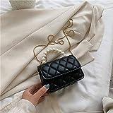 Bolsos Mujer,Bolso Hombre Bordado de Corea Cadena de Hilo de Hombro Bolsa de Perlas portátil Mujer tirón del Bolso de Crossbody de la Cadena de Verano Pequeño Bolso de la Manera de Las Axilas Bolsa d