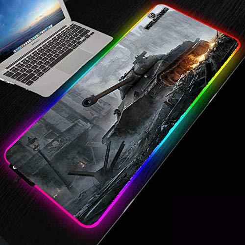 ZETIAN Luminous RGB Led-leuchten Desktop Gaming Maus Pad Kissen Computer ZubehörMauspad Notebook Pad-tank_400X800X4MM