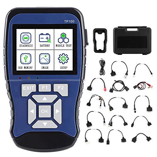 Escáner OBD de motocicleta para Honda, TopDiag TP100 Escáner OBD de mano Sistema dual inteligente Detector de batería de diagnóstico de motocicleta