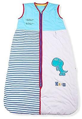 Sacos de Dormir para Bebé, Dinosaurio Roar, Kiddy Kaboosh Varios Tamaños, Ligero, 0.5 Tog