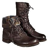 Botas De Trabajo De Tobillo De Moda Para Hombres Botas De Cordones De Caña Alta Retro Botas De Nieve Unisex De Invierno Botas Antideslizantes,Brown-11.5UK