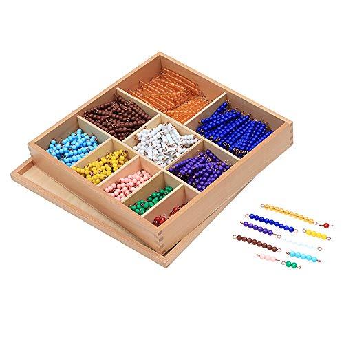 Montessori Bead Decanomial Box Montessori Math Beads Toys Materials for