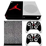 Xbox One S Whole Body Vinyl Skin Sticker Decal Cover for Console and Controllers - Jordan Black Cement