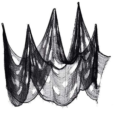 Nicole Knupfer 8 m x 2 m Halloween decoracin negro tela tela decoracin decoracin fiesta puerta exterior decoracin Halloween Party Prop