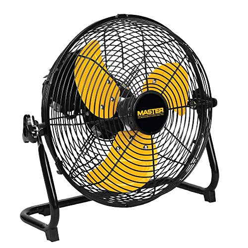 Master 12 Inch Industrial High Velocity Floor Fan - Direct Drive, All-Metal Construction with Steel-Coated Safety Grill, 3 Speed Settings (MAC-12F)