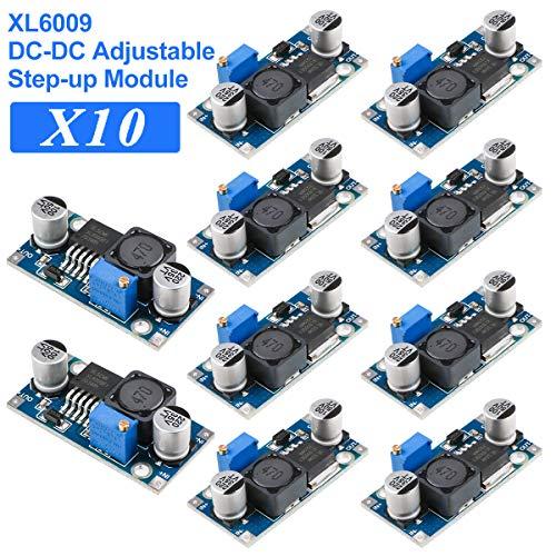 Innovateking-EU Step Up Voltage Converter Boost Converter Module XL6009 DC-DC 3-30V bis 5-40V Einstellbare Platine Ersetzen Sie LM2577 10 Stück