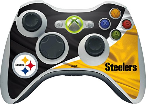 Skinit Decal Gaming Skin Compatible with Xbox 360 Wireless Controller - Officially Licensed NFL Pittsburgh Steelers Design