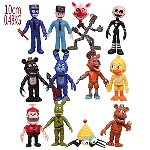 12 Pezzi Cinque Notti Al Gioco Fnaf Di Freddy Action Figures Doll Kid Giocattoli Per Bambini Regali Set 10Cm