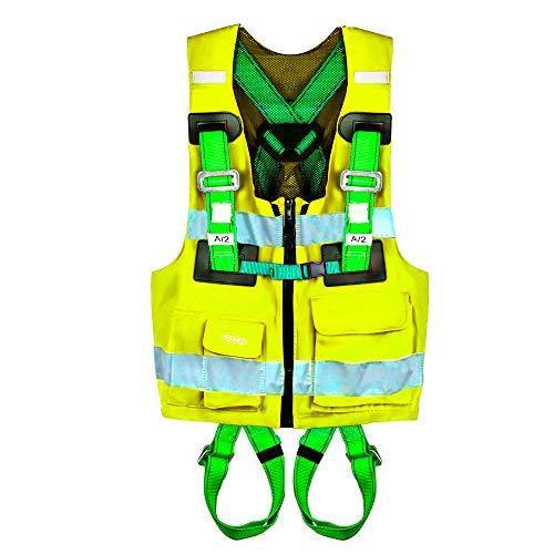 PONSA REFLEX - Arnés de trabajo anticaídas con chaleco de alta visibilidad...