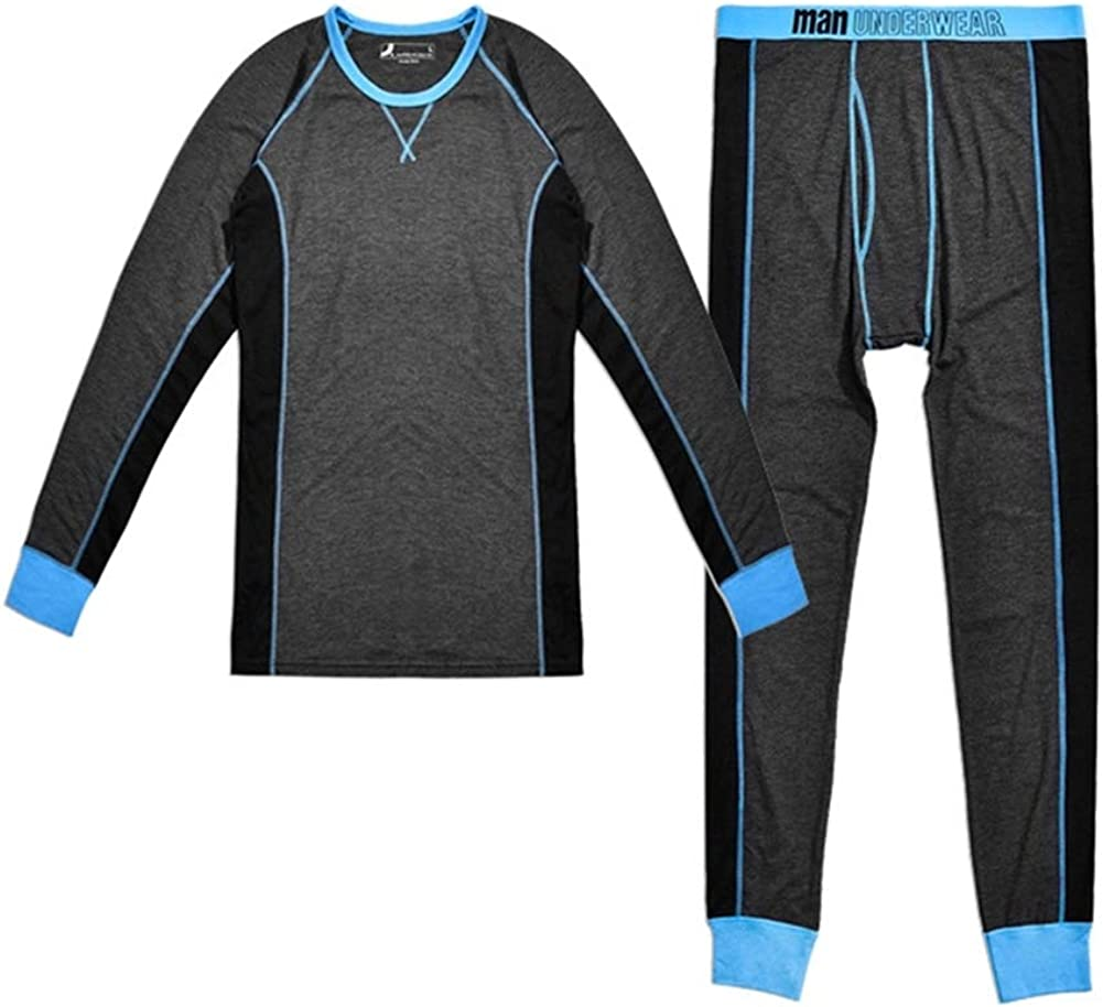 Thermal Underwear Lycra Breathable sweatproof Sports Men's Warmth in Winter [Set]