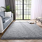 Lascpt Area Rugs for Living Room, Super Soft Fluffy Fuzzy Rug for Bedroom, Grey Furry Shag Rug 3x5, Plush Carpet Home Decor for Girls Kids Dorm Room, Accent Indoor Non-Slip Cute Baby Nursery Rug