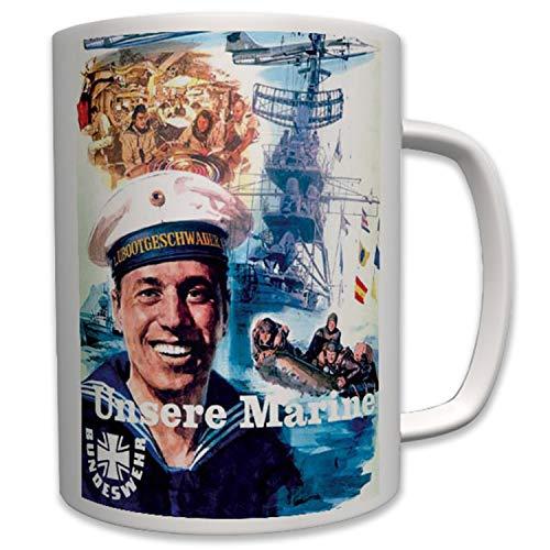 Nuestros Militar Marino Bundes Marino Deutsche Bundeswehr Alemania–Taza Café # 6430