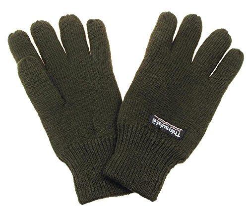 Strick-Fingerhandschuhe, Thinsulatefütterung, oliv, Größe L