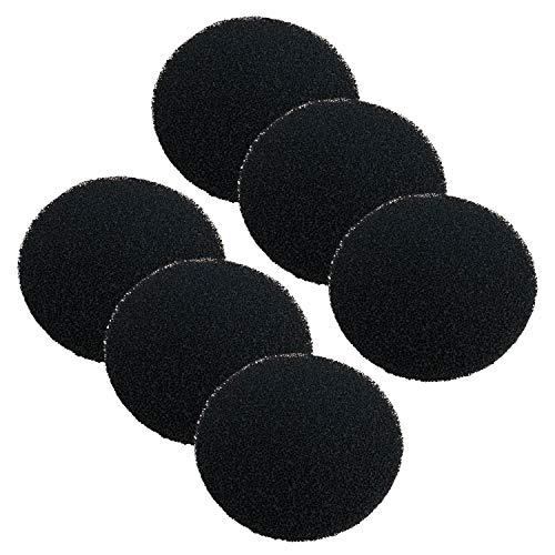 Finest Filters - Juego de 6 Almohadillas de Filtro de Carbono para filtros Fluval FX4 FX5 y FX6
