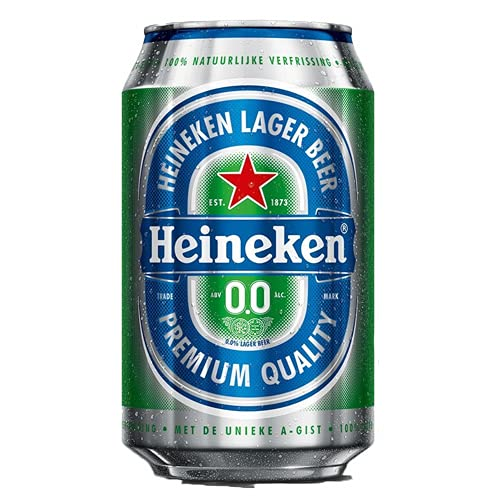 24 x Heineken 0% Bier (24 x 0,,33L) Alkoholfreies Bier Dosenbier (E.U.) inkl. Gratis FiveStar Kugelschreiber