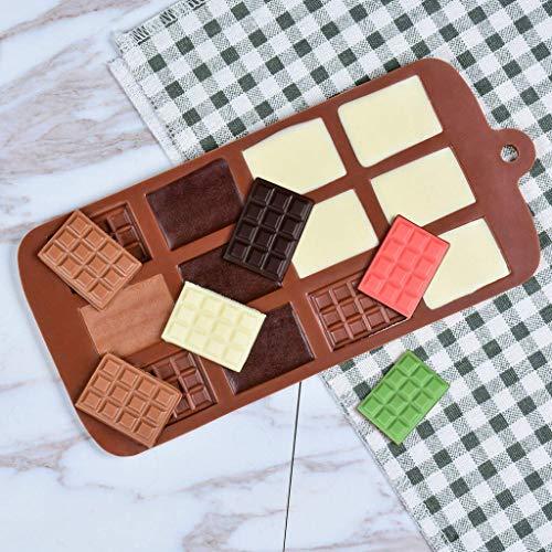 GAOTIAN Molde de Silicona 12 Incluso Molde de Chocolate Moldes de Fondant...