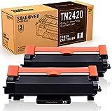 [Con Chip] STAROVER TN-2420 TN2420 Cartuccia Toner Compatibile per Brother MFC-L2710DN MFC-L2710DW MFC-L2730DW MFC-L2750DW DCP-L2550DN DCP-L2530DW DCP-L2510D HL-L2375DW HL-L2370DN HL-L2350DW (2Nero)