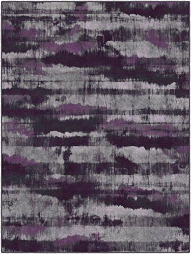 Brumlow Mills Contemporary Abstract Home Indoor Area Rug with Modern Colorful Print Pattern, Perfect for Kitchen Rug, Living, Dining or Bedroom Room Décor, 3'4' x 5', Purple