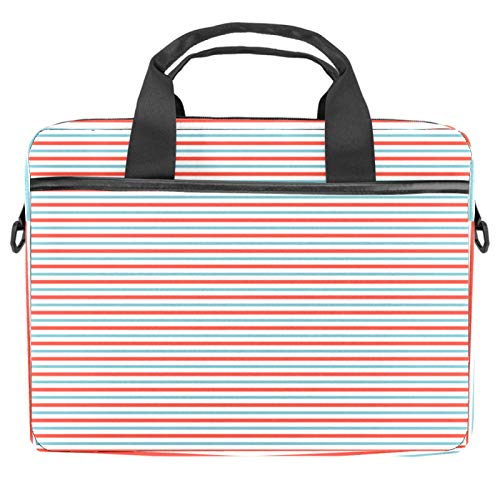 13-14.5 Inch Laptop Sleeve Case Red Gray Stripe Protective Cover Bag Portable Computer Notebook Carrying Case Briefcase Message Bag