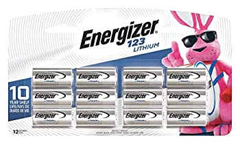 Energizer 123 Lithium Photo Battery 12 Batteries 1-Pack