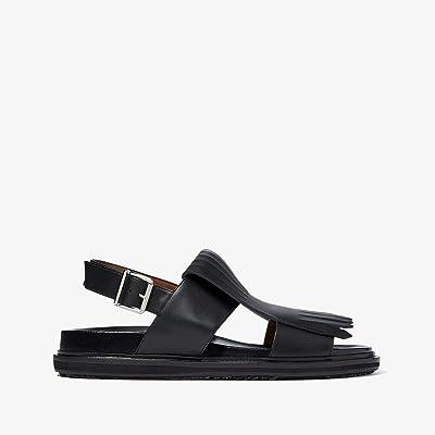 MARNI Loafer Detail Sandal (Black) Men