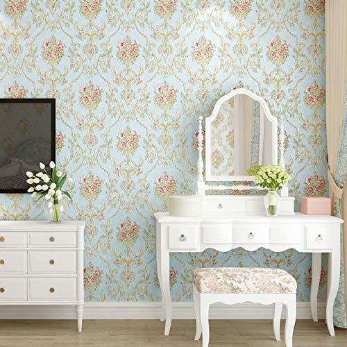 Selbstklebende Vliestapete Tapete gedrückt rustikalen Schlafzimmer warm dreidimensionale Tapete europäischen Stil Wohnzimmer 3D Hintergrund Tapete Tapete-0.53m * 1m