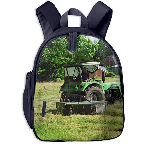 Kinderrucksack Kleinkind Jungen Mädchen Kindergartentasche Gras Heu Traktor Feld Backpack Schultasche Rucksack