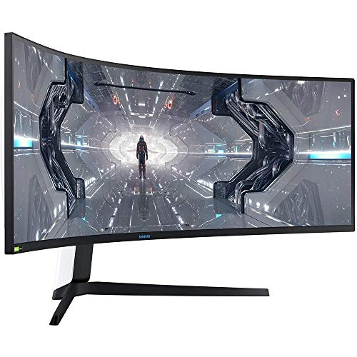 SAMSUNG 49-inch Odyssey G9 Gaming Monitor   QHD, 240hz, 1000R Curved, QLED, NVIDIA G-SYNC & FreeSync   LC49G95TSSNXZA Model