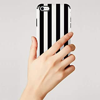 JLFCH iPhone 8 Plus Slim Case, iPhone 7 Plus Case with Shockproof Airbag Protective Back Cover for Apple iPhone 7/8 Plus, 5.5 inch - Black & White Vertical Stripes