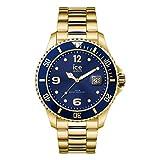 Ice-Watch - ICE steel Gold blue - Gold Herrenuhr mit Metallarmband - 017326 (Extra large)