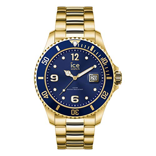 Ice-Watch - ICE steel Gold blue - Gold Herrenuhr mit Metallarmband - 017326 (Extra large)