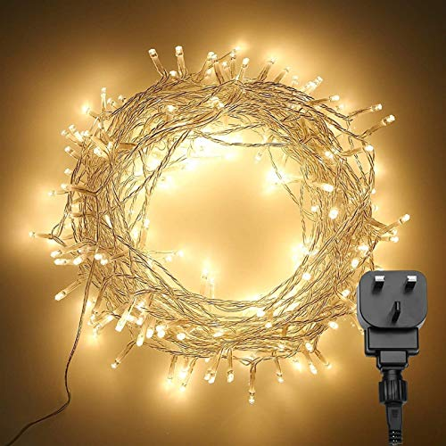 LED Fairy Lights LED Warm White Fairy Lights Plug Lighting Modes Waterproof Christmas Tree Lights For Bedroom Garden Gazebo Party Festival Decorations Garden Ornament Decoration LED Lights