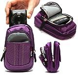 Navitech Purple Digital Camera Case Bag Compatible with The Kodak EasyShare C195 / C1530 / Sport C135 / Sport C123 / C1530
