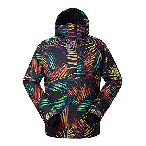 BGROESTWB Chaqueta de esquí a prueba de viento para hombre, chaqueta de esquí impermeable y gruesa (color: color verdadero, tamaño: S)