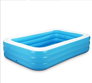 WQQTT bath tub Blue + White Inflatable Family Adult Large Inflatable Baby Child Foam Bottom Antique Skate Bathtub bath tub bathtub bathtub for adults inflatable (Size : 1.5m)
