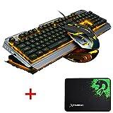 Lexonelec clavier Gaming Mouse Définit Combo filaire V1 à rétroéclairage LED multimédia USB clavier de jeu en métal étanche...