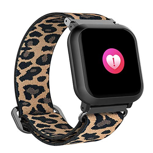 BIGCHINAMALL Relojes Inteligentes Mujer Smartwatch (Leopardo)