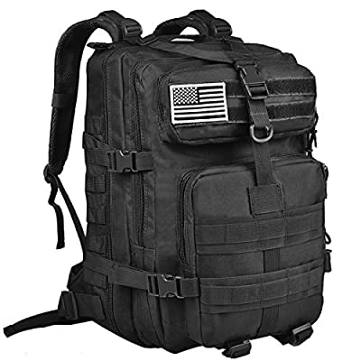 NOOLA Military Tactical Backpack Large Army 3 Day Assault Pack Molle Bag Black