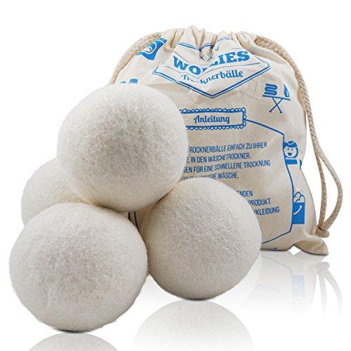 Trocknerbälle - Bälle aus 100% Schafswolle zur Nutzung im Wäschetrockner