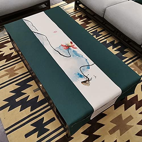 LIUJIU El mantel de vinilo El mantel de PVC puede limpiar picnic interior/exterior, barbacoas y cubiertas de mesa, 90 x 240 cm
