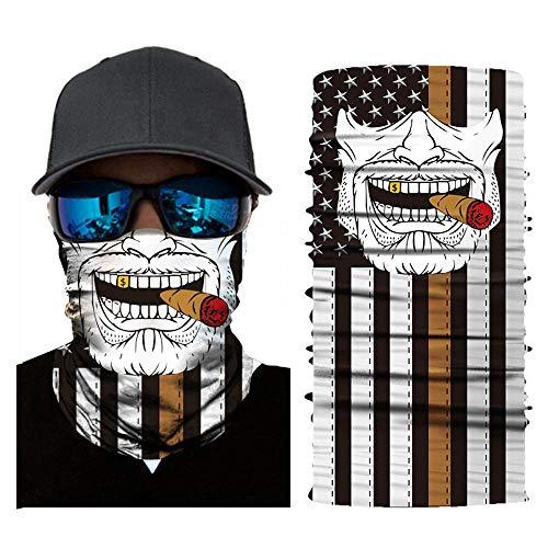 JackRuler Multifunktionstuch Schlauchtuch Sturmmaske Bandana Totenkopf Halstuch Skelettmaske für Motorrad Fahrrad Ski Paintball Gamer Karneval Kostüm Skull Maske (#01)
