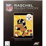 NFL Pittsburgh Steelers Raschel Blanket 40in x 50in - Baby Blanket