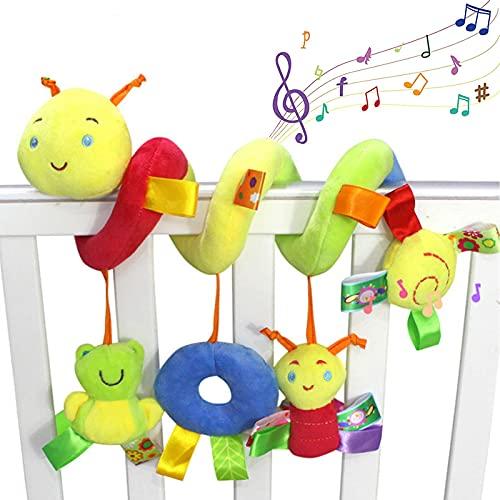 BROADREAM Spirale Aktivitätsspirale mit Kinderwagen, Kinderwagen oder Hängebett, Spielzeug (Insekt)