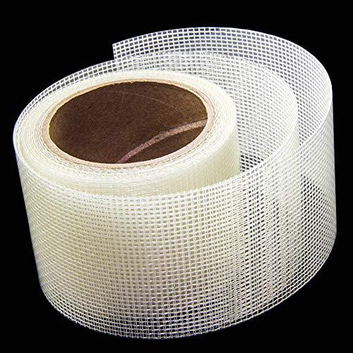 Loboo Idea Displayreparaturset, 2 x 105 Zoll 3-lagiger starker Klebstoff & wasserfest, ideal zum Abdecken von Löchern und Rissen Reparaturband für Fenster und Türscheibe. Fiberglasgewebe.