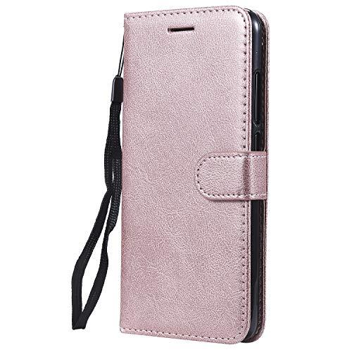 Jeewi Hülle für [Xiaomi Mi 8 Lite] Hülle Handyhülle [Standfunktion] [Kartenfach] [Magnetverschluss] Tasche Etui Schutzhülle lederhülle flip case für Xiaomi Mi8 Lite - JEKT051813 Rosa Gold