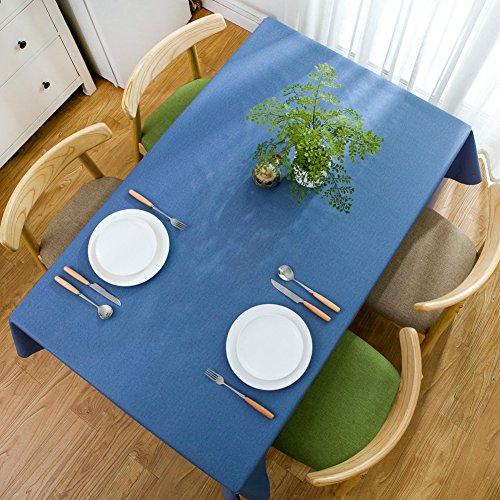 Nappes Facile essuyez Les Clips en Plastique de PVC du Rectangle Lavable de dîner pour des Parties Salle à Manger Garden Hotel Cafe Restaurant Anniversaire Solid Color Bleu Grey-A 65x65cm(26x26inch)